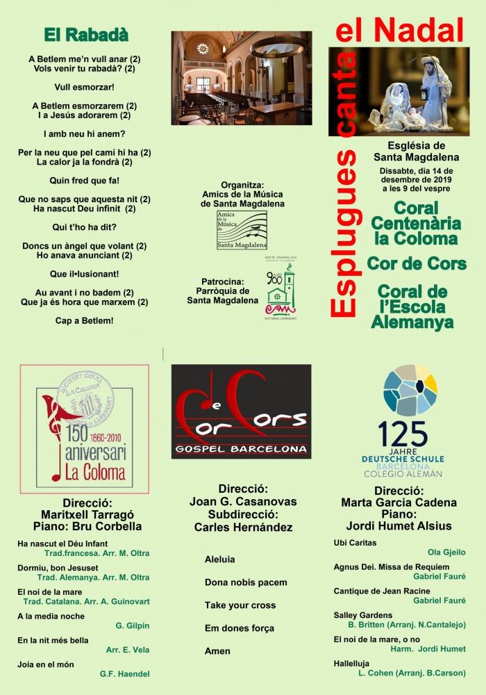 2019 Concert Nadal Programa